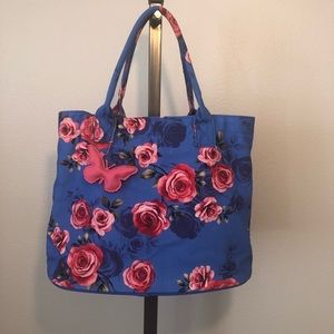 Handbags - 🌺Floral Tote Bag Pink Roses Roomy Featival Bag